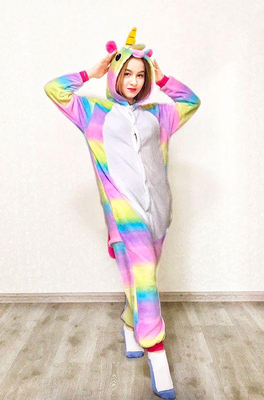 Детская пижама кигуруми Единорог Зефирный купить в Москве цена 1 980 ... 4fd728cc75166