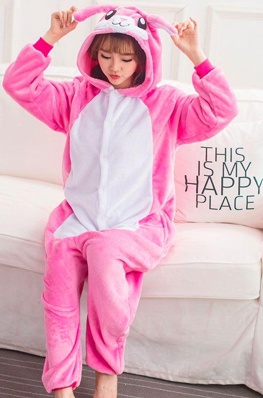 Детская пижама кигуруми Розовый Кролик 2742fa1f8b89a