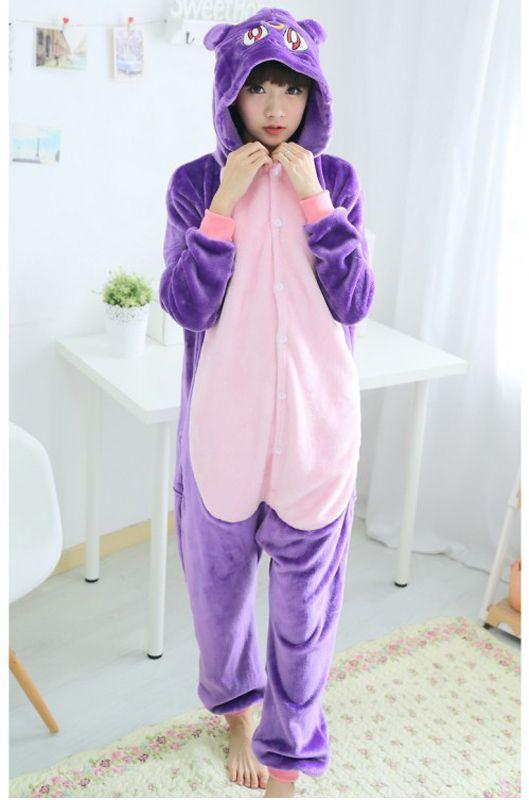 Детская пижама кигуруми Фиолетовая Кошка купить в Москве цена 1 926 ... 3d605bd9a2a76