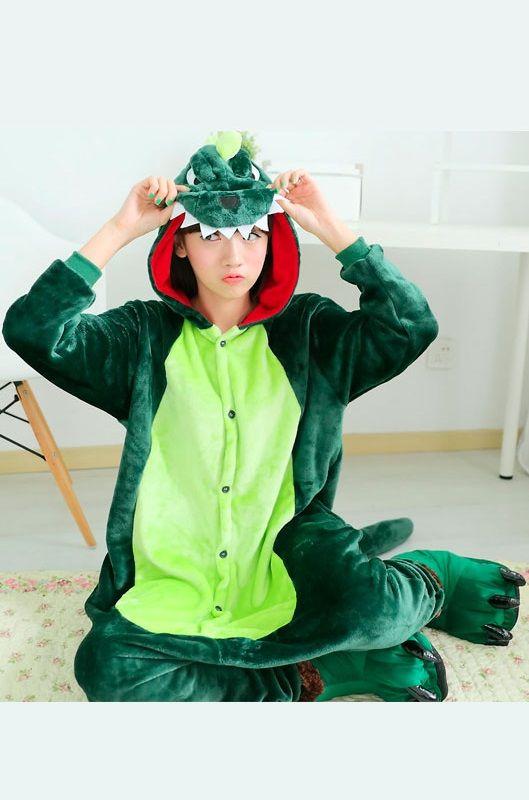 Детская пижама кигуруми Зеленый Динозавр купить в Москве цена 1 989 ... 66b8c9394ad68
