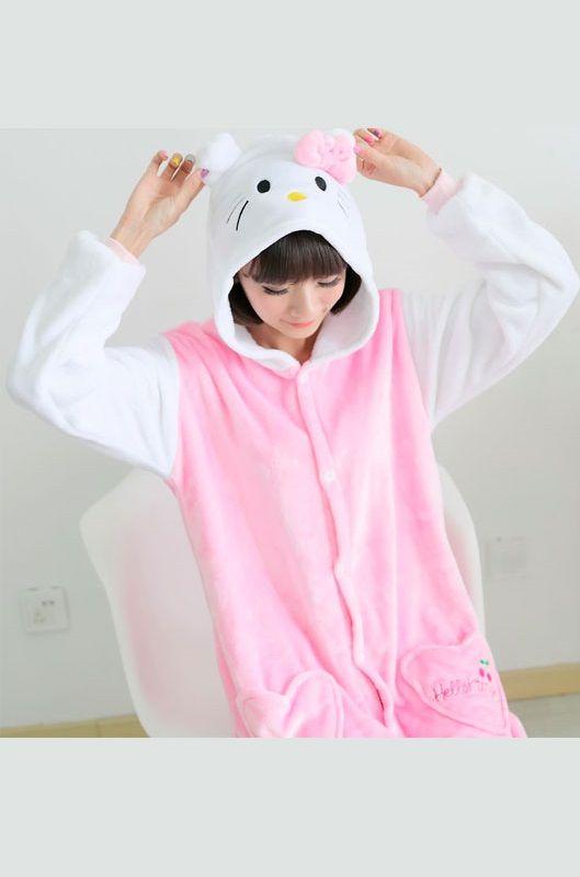 Детская пижама кигуруми Кошечка Хелло Китти купить в Москве цена 1 ... 4208c96ab6af9